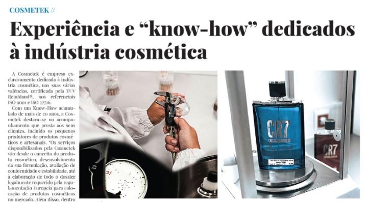 """Experiência E """"know-how"""" Dedicados à Indústria Cosmética."""